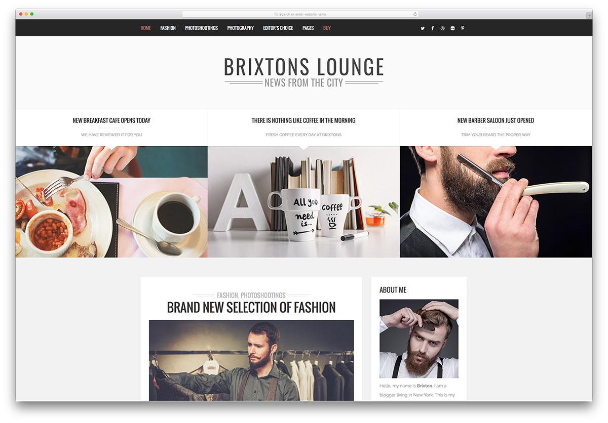 brixton blog responsive theme