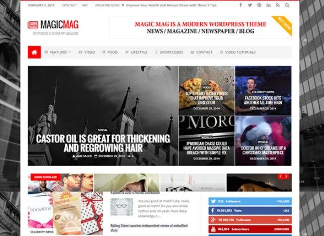magic newspaper theme