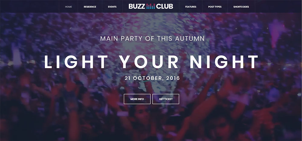 buzz club best nightclub wordpress theme