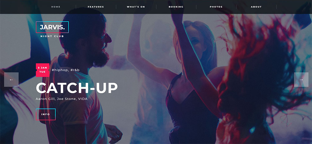 jarvis best nightclub wordpress theme
