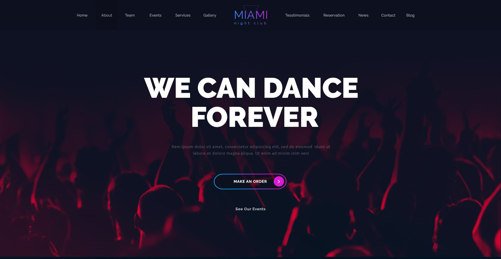 miami best nightclub wordpress theme