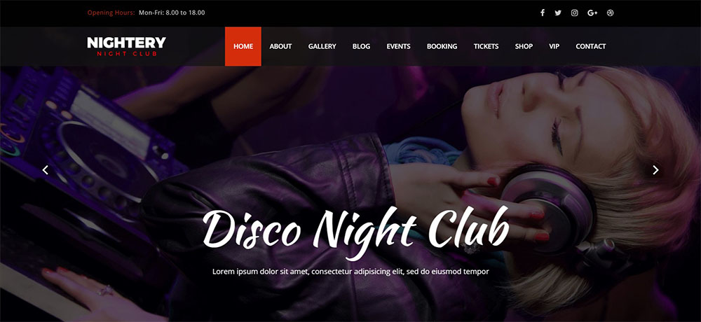 Nightery best nightclub wordpress theme