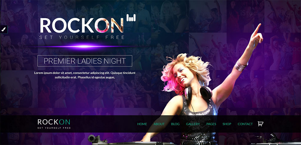 Rockon best nightclub wordpress theme