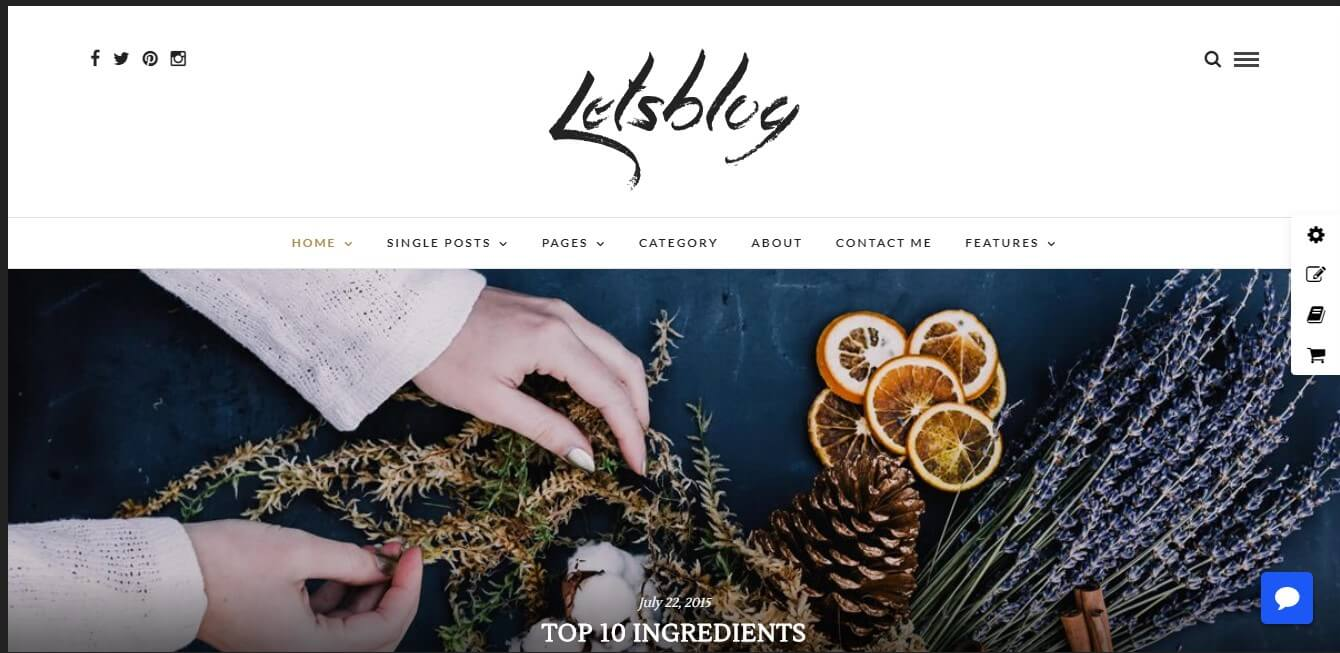 Lets blog theme