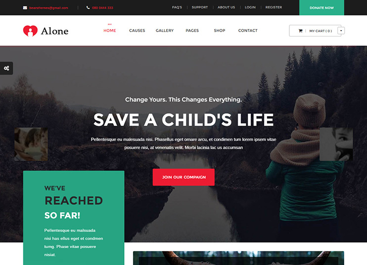15 Best Non-Profit, Charity WordPress Themes 2018