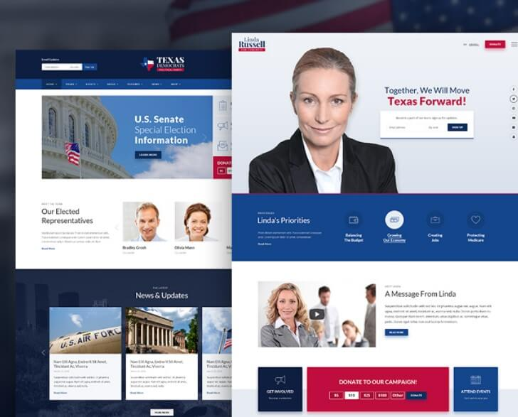 inForward Political Campaign and Party WordPress Theme