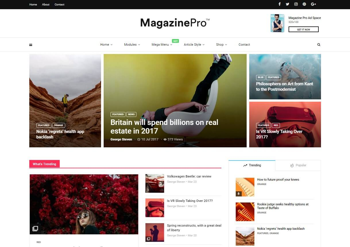 Magplus Best Review WordPress Themes 2019