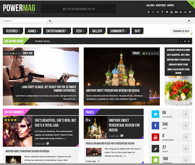 Powermag wordpress theme