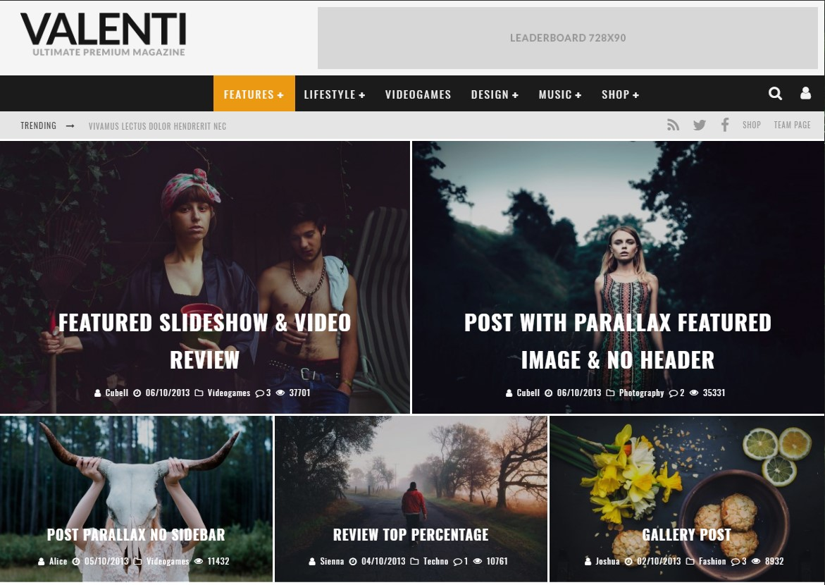 Valenti Best Review WordPress Themes 2019